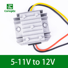 цена на 5V 11V to 12V 1A 2A 3A DC DC  Converter IP68 Step Up Boost Module Voltage Frequency Converter Power Supply for Car Golf Cart