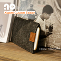 Feltro de lã carteira saco do telefone móvel para xiaomi mi5 case para xiaomi mi4/4c sacos-enviar transparente caixa do telefone móvel case