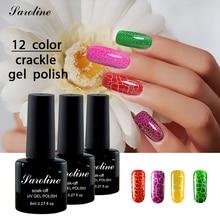 Saroline 8ml Crackle Cracking Shatter UV Nail Gel Polish Crack Nail Lacquer 1lukcy 2 Colorful Crack UV Nail Varnish cheap gel