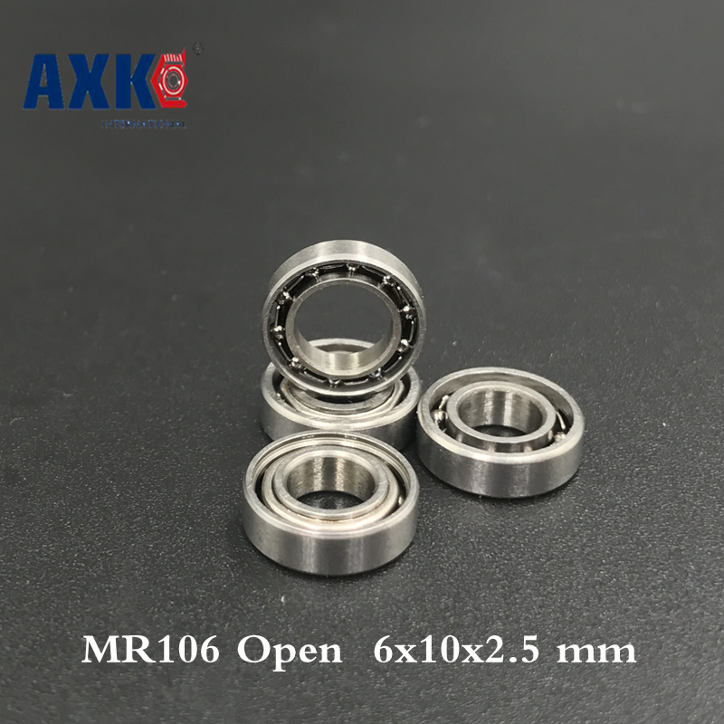 2019 Top Fashion Sale Thrust Bearing Rolamentos Free Shipping 10 Pcs Mr106 Open Type Ball Bearings 6x10x2.5 Mm Miniature L-10602019 Top Fashion Sale Thrust Bearing Rolamentos Free Shipping 10 Pcs Mr106 Open Type Ball Bearings 6x10x2.5 Mm Miniature L-1060