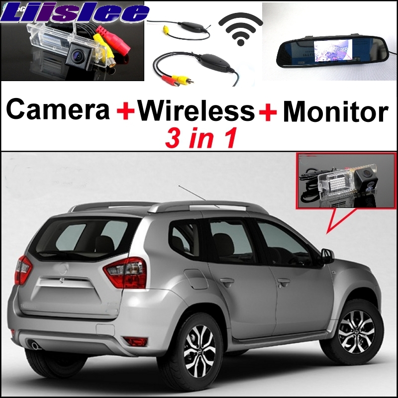 Liislee 3 in1 Parking System For Nissan Terrano + Special Rear View Wifi Camera + Wireless Receiver + Mirror Monitor Easy Back for ford escape maverick mariner car parking sensors rear view back up camera 2 in 1 visual alarm parking system