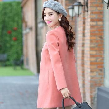 SexeMara Top Quality Coat Winter Jacket Women Casual Long Wool Coat 2018 New Korean Fashion Large Size Women's Winter Coat 10