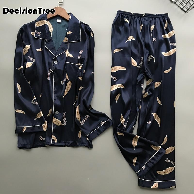 2020 High Quality Pajama Sets Long Sleeves Home Clothing Pijama For The Young Male Suitable Pyjama For All Seasons