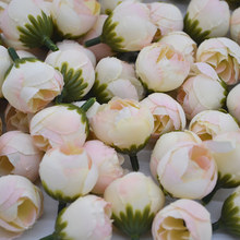 20pcs 2cm Artificial Rose Bud Small Silk Flower Tea Head For Wedding Home Party Decoration DIY Wreath Scrapbooking Crafts
