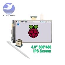"""4.0 """"Cal HDMI IPS ekran monitora LCD wyświetlacz z GPIO rezystancyjny Panel dotykowy wyjście Audio dla Raspberry Pi 4"""