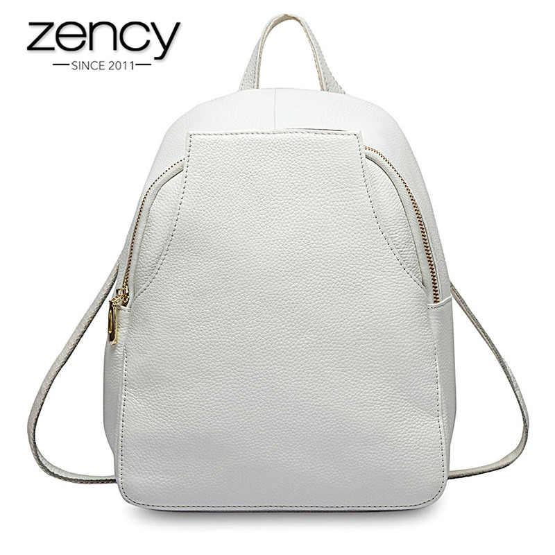 Zency Новое поступление женский рюкзак 100% натуральная кожа походные сумки для женщин Элегантный дизайн школьные сумки для девочек ранец праздник