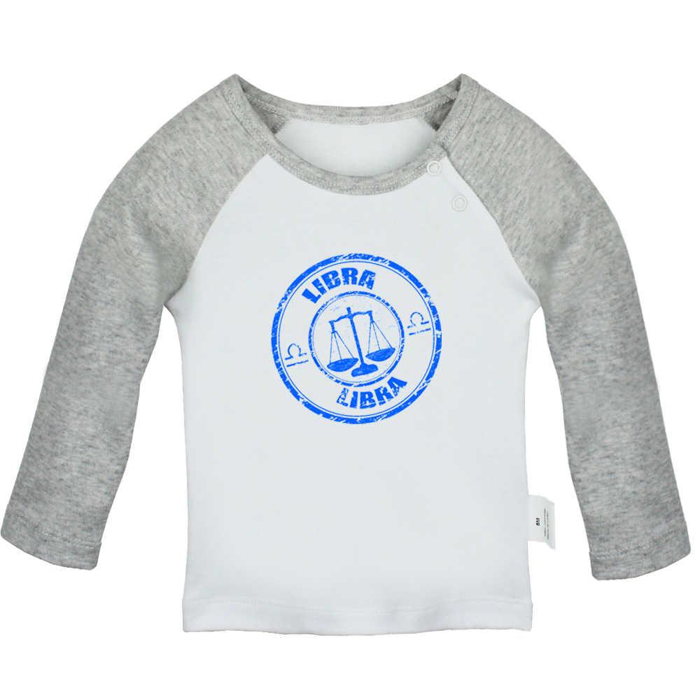 Забавные Созвездие весы с раком Телец Aries Scorpio, черные, серые, розовые футболки для новорожденных футболки с длинными рукавами для малышей