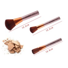 12Pcs Pro Facial Practical Powder Make Up Brushes Soft Cosmetic Gold Color Face Eyes Blush Brush Beauty Tools TF
