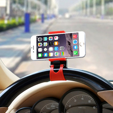 Universal Car Steering Wheel Mobile Phone Socket Stand Holder bike Cell phone holder For iPhone Samsung LG Sony