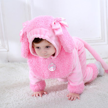 2019 Spring NEW Baby Girl Romper Puppy Shape Costume Hooded Onesie Newborn Clothes