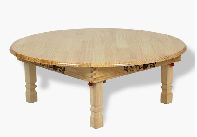Massief grenen hout vouwen ronde tafel 80 cm natuurlijke cherry