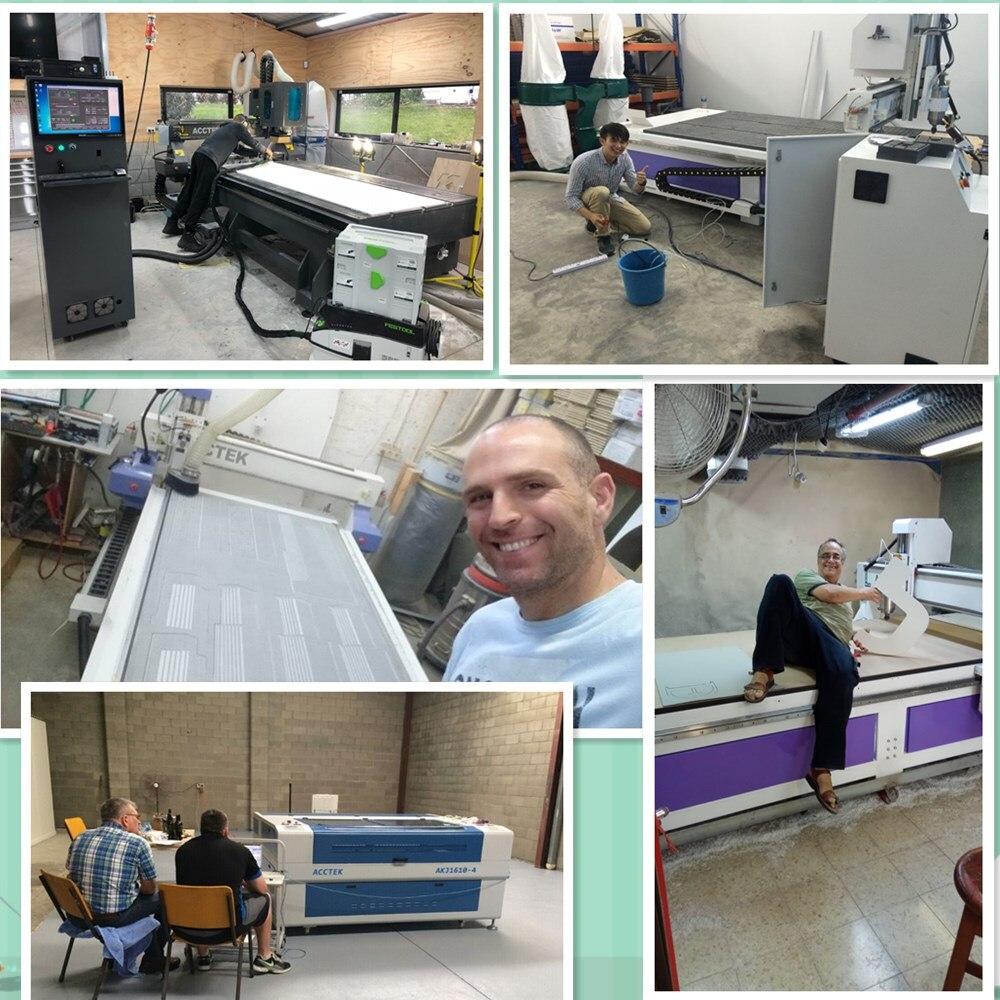 Machine de gravure ACCTEK 1325 CNC routeur 3kw moteur de broche 1300X2500mm