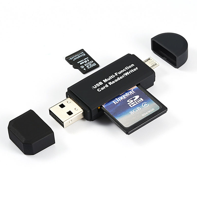 3 In 1 USB OTG Card Reader Flash Drive High-speed USB2.0 Universal OTG TF/SD Card for Android phone Computer Extension Headers