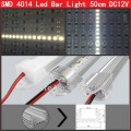 50sets  50cm SMD 4014 LED Rigid strip light 72leds Bar Cold/Pure/Warm white DC12V+ aluminium profile +  PC cover Waterproof