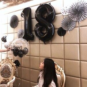 Image 3 - 2 adet 40 inç mutlu 18 doğum günü folyo balonlar gül altın/pembe/mavi sayı 18th yaşında parti süslemeleri erkek çocuk kız malzemeleri
