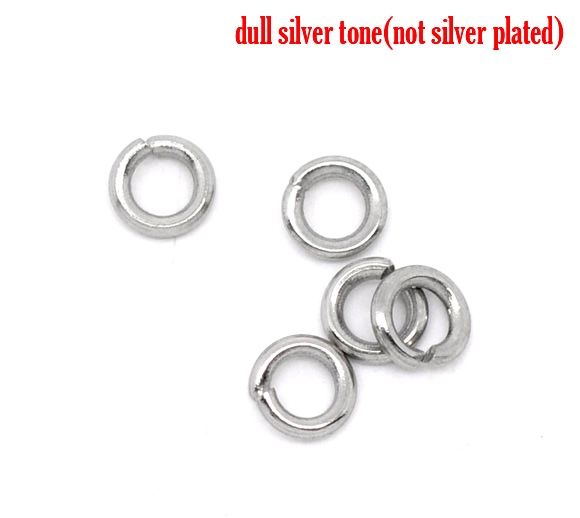 DoreenBeads Stainless Steel Open Jump Rings 4mm Dia. Findings,75 pcDoreenBeads Stainless Steel Open Jump Rings 4mm Dia. Findings,75 pc