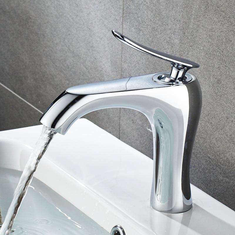 Buy FLG Modern Water Mixer Bathroom Basin Sink Faucet Brass Bathroom ...