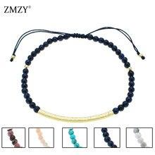 ZMZY 3mm Lapis Lazuli Perle Mode Natürlichen Stein Armband Armbänder Für Frauen/Männer Lapis Lazuli YOGA Reiki Gebet dünne Schmuck