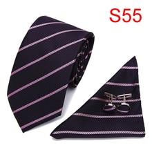 Silk tie for men dot ties Woven Necktie HandMade Mens Tie Cufflinks and Handkerchief Set Hanky Gift