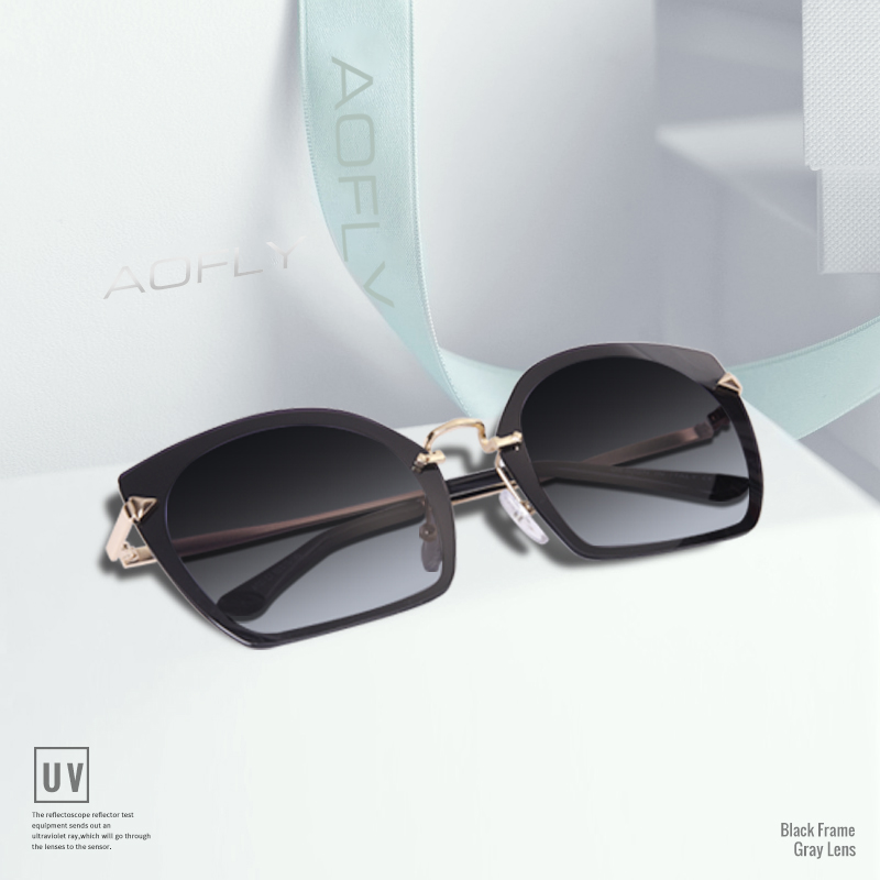 fb93528622d AOFLY BRAND DESIGN Fashion Cat Eye Sunglasses Unique Frame Vintage  Polarized Sunglasses Female Goggles UV400 A123-in Sunglasses from Apparel  Accessories on ...