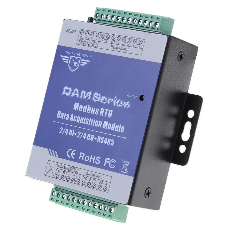 DAM110 Digital Modbus RTU Data Acquisition Module High Precision Industrial Automation Control 4 Relay Output Module Board