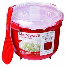 Umweltfreundliche Kunststoff Mikrowelle Reiskocher Schüssel 2.6L/87,9 UNZE Herd BPA FREI Küchenutensilien