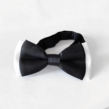Детская мода формальное хлопок Лук галстук Классическая бабочки в горошек для маленьких детей Регулируемый жилет шеи галстук Свадебная вечеринка бабочка
