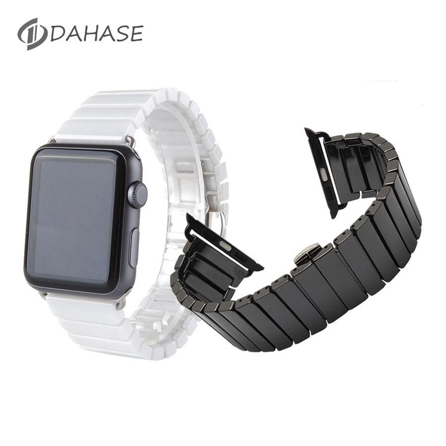 Prix pour Céramique bracelet pour apple watch série 2 38mm 42mm smart Bande de montre Bracelet Lien Bracelet En Céramique Liens Bracelet pour iWatch 1er