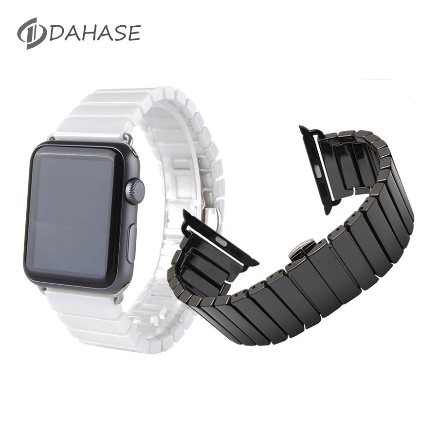 Ceramic Watchband for Apple Watch Series 2 38mm 42mm Smart Watch Band Link Strap Bracelet Ceramic Links Watchband for iWatch 1st