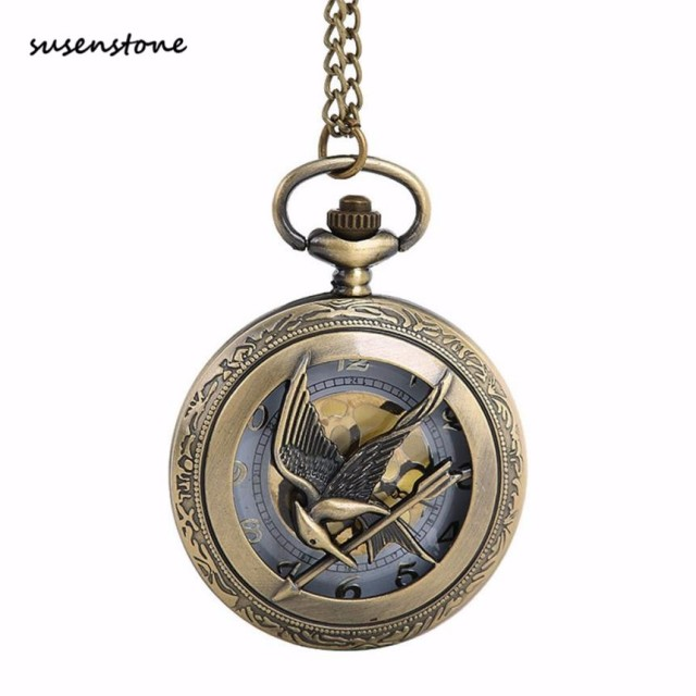 Susenstone The Greatest Pocket Watch New Fashion Men Pocket Watch Necklace For G