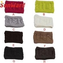 Garment Casual Girl Women Headwear Head Wraps Crochet Twist Flower Elastic Headbands