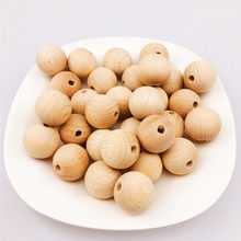 150pcs/Pack Baby Teether Beech Wooden Chewable 8-20mm Round Beads Ecofriendly Beech Beads DIY Craft Jewelry Accessories(China)