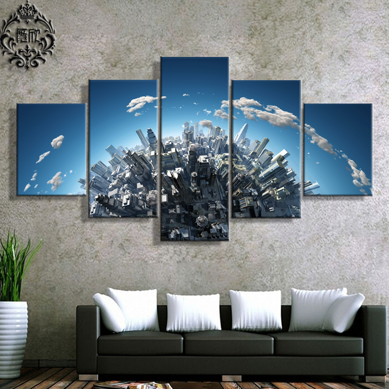5 Panel Canvas Wall Art Printed Painting Poster Modern