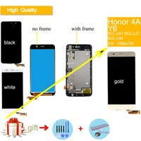 Original Screen For HUAWEI Y6 LCD Display Touch Screen with Frame For HUAWEI Honor 4A LCD Display SCL L01 SCL L21 lcd Assembly