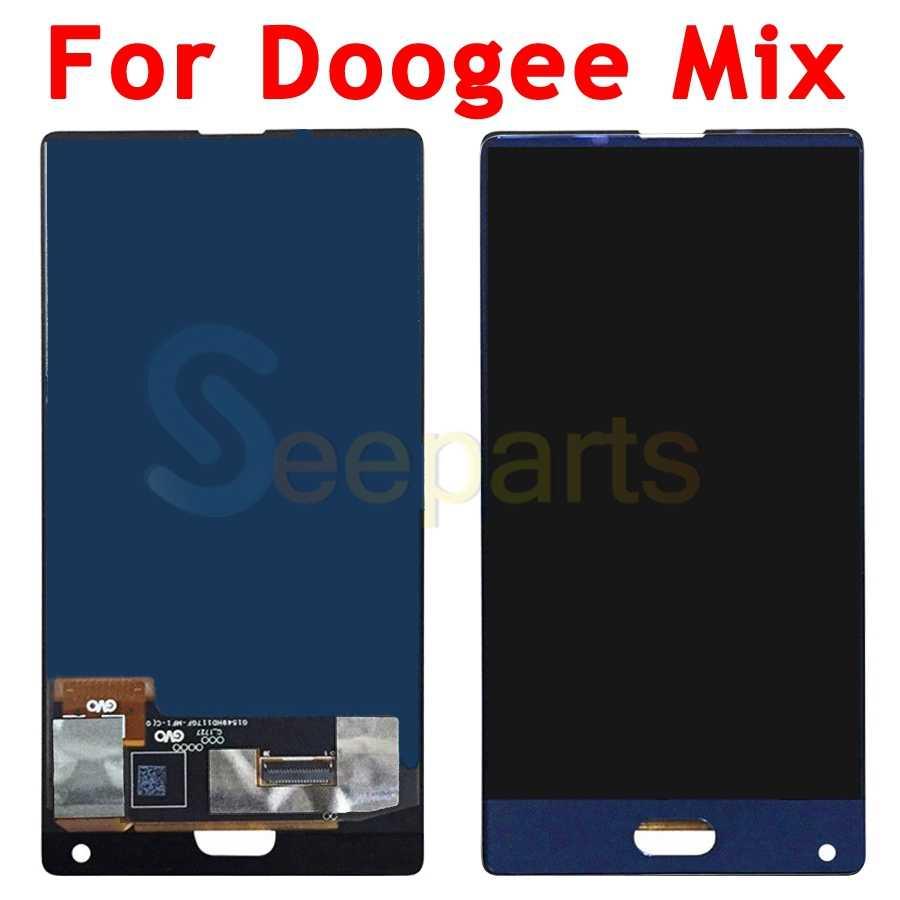 """5.5 """"Doogee ミックス Lcd ディスプレイタッチスクリーンデジタイザ国会ミックス 2 5.99"""" Doogee Mix2 液晶黒 /ブルー交換部品"""