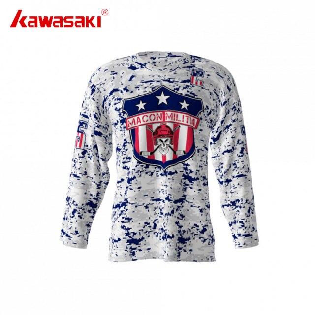5f996893c Kawasaki Custom Practice Ice Hockey Jersey Macon Militia Camouflage Style  Breathable Men s Training Hockey Jersey Plus