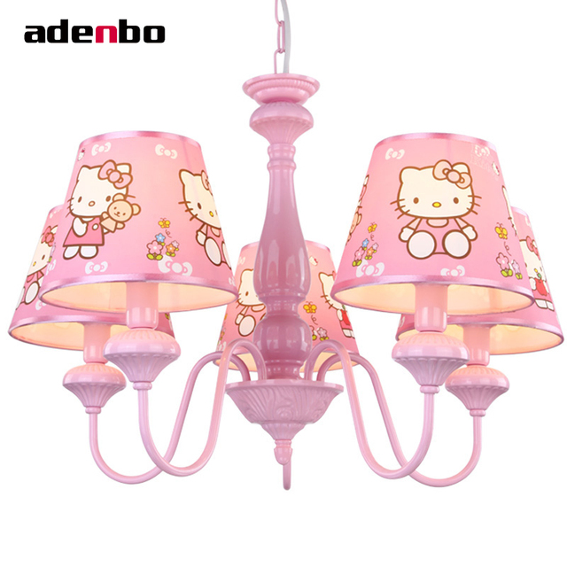 Modern led chandeliers lighting fixture hello kitty kids chandelier modern led chandeliers lighting fixture hello kitty kids chandelier light with fabric shade ceiling mounting for aloadofball Images