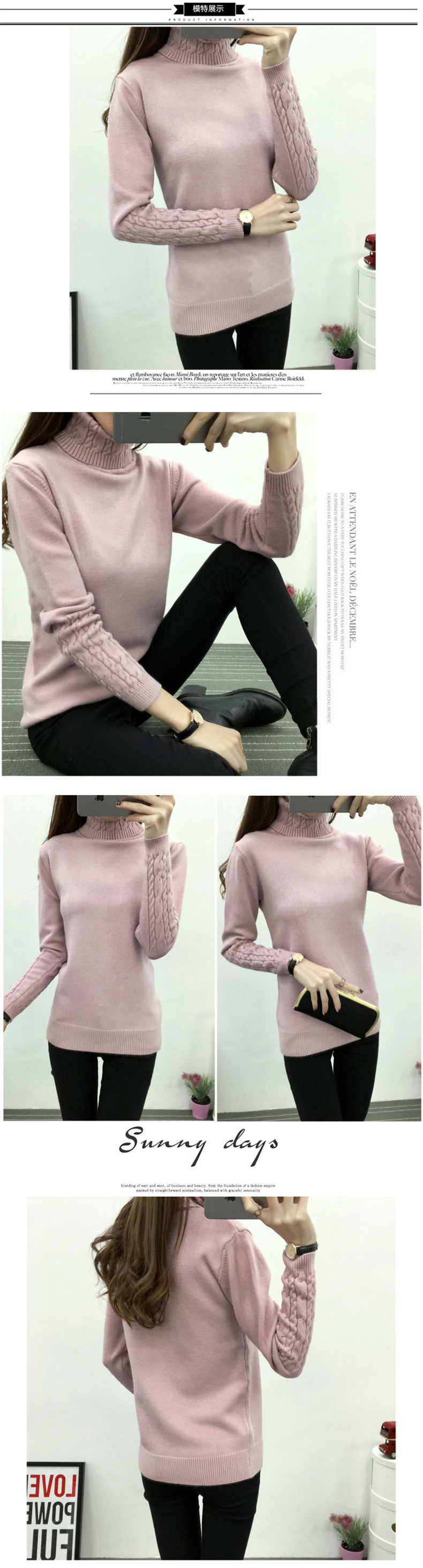 Thicken Warm Knitting Sweaters And Pullovers For Women 17 Winter Casual Elastic Turtleneck Knitwear Female Jumper Tricot Tops 4