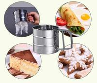 2016 Newest Stainless Steel Mesh Flour Sifter Mechanical Baking Icing Sugar Shaker Sieve Tool Cup Shape Hot Sale