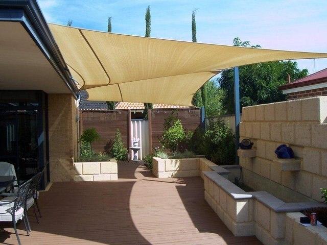 Jinguan Net 10u0027x 10u0027 Square Sun Sail Shade UV Block Outdoor Canopy Top