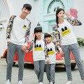 Мультфильм толстовка семья одежды одежды для матери и отца сына семья установить соответствующий одежда бежевый / красный / PRO12