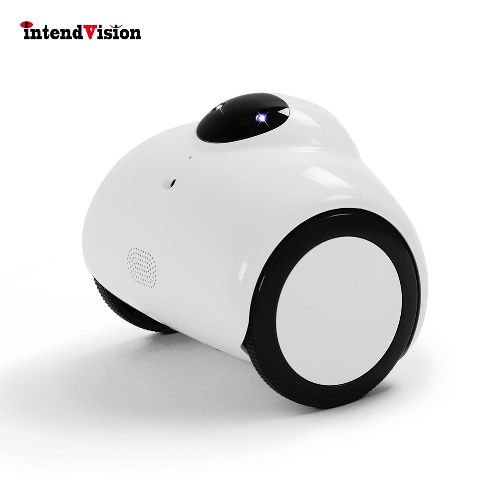 Intendvision 720P Mini Robot IP Camera Wireless Remote Control By Phone Family Accompany Tank Robot  Home Security Webcam IDR01Intendvision 720P Mini Robot IP Camera Wireless Remote Control By Phone Family Accompany Tank Robot  Home Security Webcam IDR01