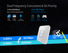1200Mbps inalámbrico AP WiFi Punto de Acceso 802.1ac Router WiFi Repetidor extensor 5,8 Ghz Wan/Lan RJ45 interior Repetidor amplificador derrota