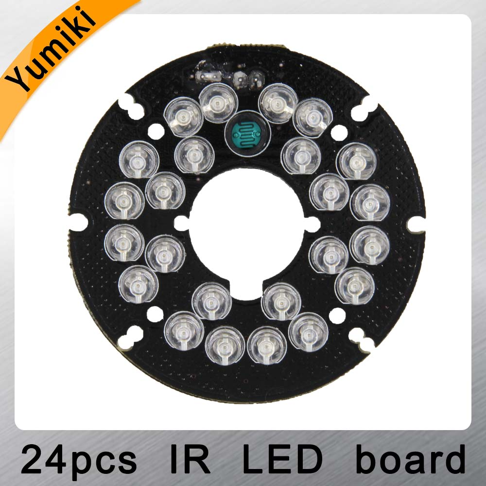 Yumiki Infrared 24 X 5 IR LED Board For CCTV Cameras Night Vision (diameter 54mm)