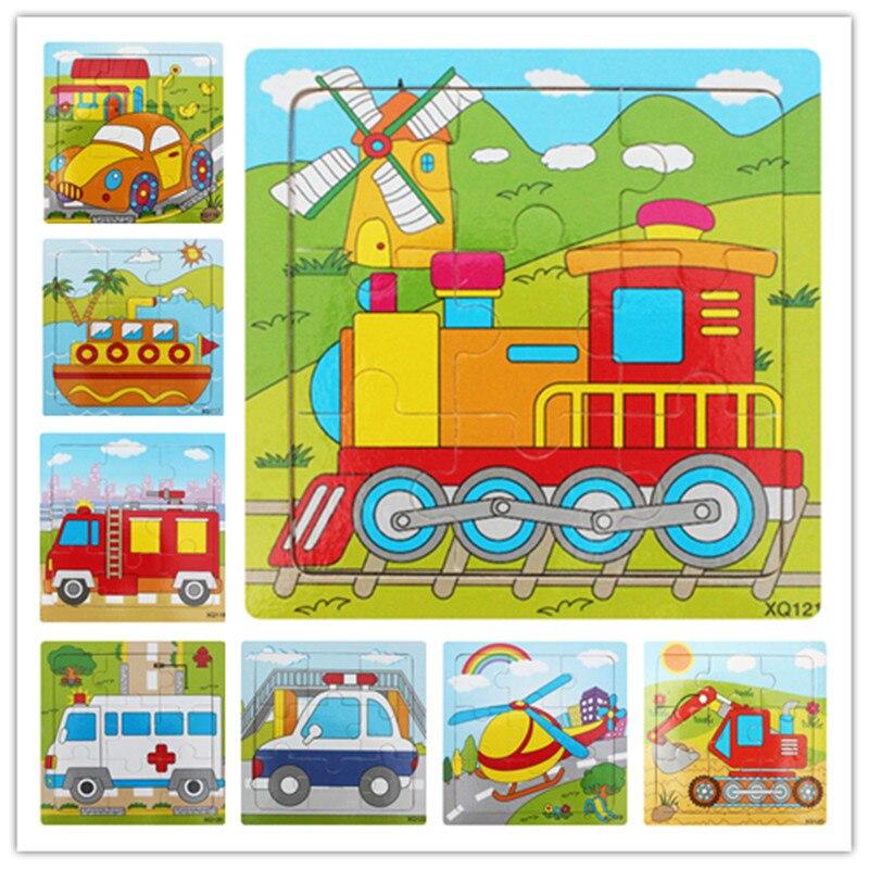 Подлинная специальных 9 шт. головоломки штук животного транспорт головоломки узор выбрать детские головоломки игрушки оптом