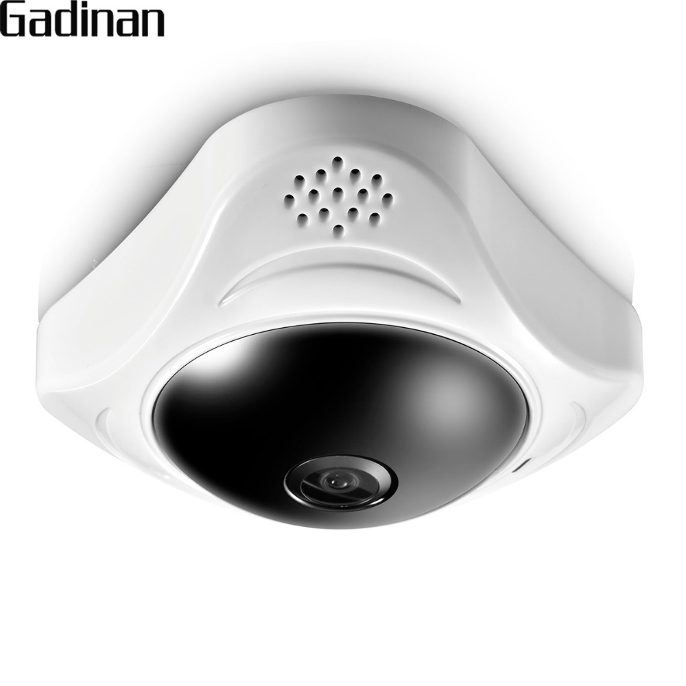 GADINAN Panoramic 960P 3MP 3D VR Wifi FishEye IP Camera 360 Degree Full View Mini CCTV Network Security IR Night Vision Yoosee