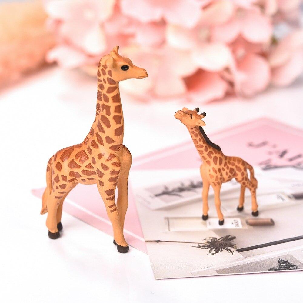 4 Pcs Modern Landscape Ornament Giraffe Miniature Fairy Garden Dollhouse Decor
