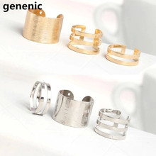 3pcs Fashion Finger Open Rings Silver Gold Over The Midi Tip Finger Above The Knuckle Open Rings free shipping New