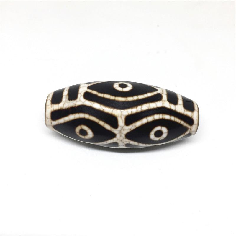 Natural Agate 22mm 50mm Dragon Vein Dragon Eyes Pattern Amulet Tibetan Dzi Beads for Bracelet DIY