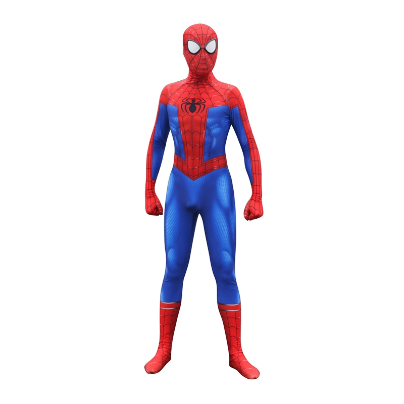 Adult Spider-Man: Into the Spider-Verse Peter Parker Cosplay Siamese Tights Halloween Costume